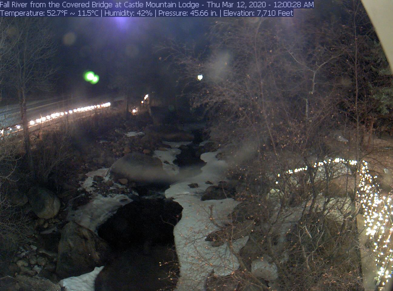 Castle Mountain Lodge Fall River Webcam
